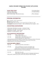 Mock Resume Mock Resume Resume For Study 7