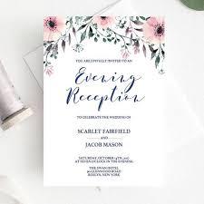 Wedding Reception Invitation Template Elegant Wedding Evening