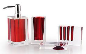 red glass bathroom accessories. Valuable Red Bathroom Accessories Modern Design RED BATHROOM ACCESSORIES Glass