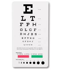 Prestige Medical 3909 Snellen Pocket Eye Chart Buy Online