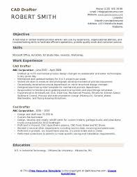 Sample Autocad Drafter Resume Cad Drafter Resume Samples Qwikresume