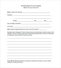 Incident Report Templates Doc Free Premium Templates Security