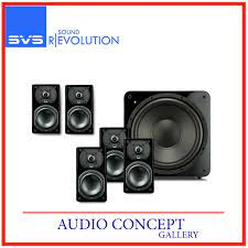 SVS Prime Satellite 5.1 home theater speaker system with powered subwoofer  (Gloss Black )