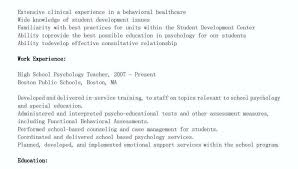 sample school psychologist resumes psychology resume samples sample psychologist cv successmaker co