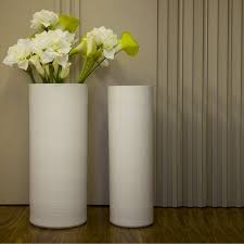 Modern minimalist fashion European-style living room home decorations in  white ceramic floor vase T407