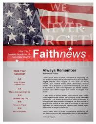 Memorial Day Newsletter Design Template Newsletter Templates