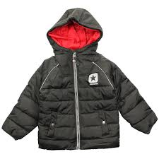 converse black junior padded winter coat black
