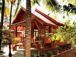 tropical wooden house design layout