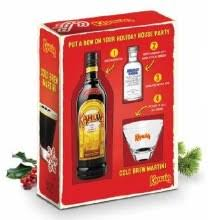 kahlua 750ml gift sets with gl shot of absolut vodka