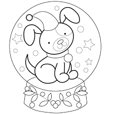 Small Picture Snow Globe Coloring Pages GetColoringPagescom