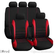 car seat cover sets universal fit 5 seat suv sedans front back seat elastic washable breathable fashion strip design car seats covers for infants seat