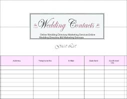 Free Printable Wedding Guest List Organizer – Jumpcom.co – Template ...