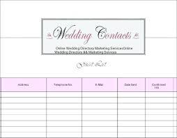 Free Printable Wedding Guest List Organizer – Jumpcom.co – Template ...