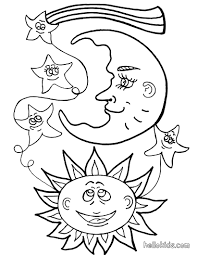 Small Picture Sun and moon coloring pages Hellokidscom