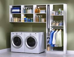 Laundry Room Organization Shelving Units