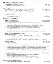 Preschool Teacher Resume Interesting 28 Preschool Teacher Resume Templates PDF DOC Free Premium