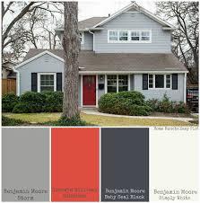 Good Home Exterior Paint Color. Benjamin Moore Storm, Sherwin Williams Gladiola, Benjamin  Moore Baby Seal Black, Benjamin Moore Simple White.