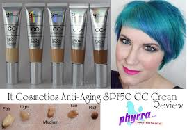 it cosmetics anti aging full coverage physical spf50 cc cream review