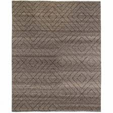 natural diamond patterned wool rug 8x10