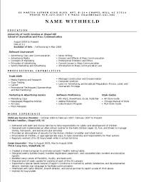 band director resume .