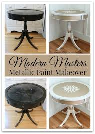 diy metallic furniture. modern masters metallic paint makeover compass rose table before and after artsychicksrule diy furniture