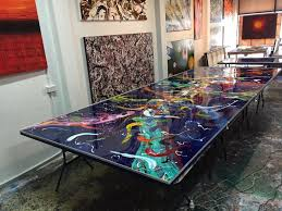 australian abstract artist glenn farquhar s extra large canvas finished with a glassy coat of