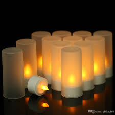 Candle Light Illusion 2019 Led Candles Lights Flickering Flameless Candle Tealight Night Light For Halloween Christmas Party Wedding Birthday Romantic Dinner Decor From