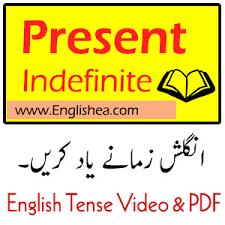 Present Indefinite Tense In Urdu Ea English