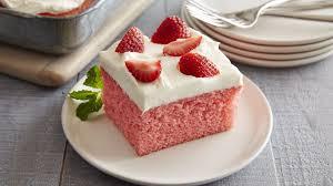 Strawberries And Cream Cake Recipe Bettycrockercom