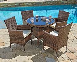 Amazon Suncrown Outdoor Furniture All Weather Wicker Round