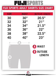 Fuji Gi Size Chart Size Charts Fuji Sports