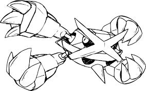 Coloriagemegametalosse Jpg 2387 1496 Pokemon Coloriages