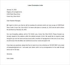 Terminate A Lease Letter Lease Termination Letter Template Business