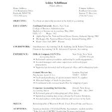 Objective Accounting Resumes Resume Objective Accountant Paknts Com