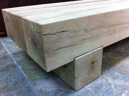 classic coffee table from new oak railway sleepers