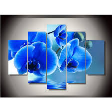 blue orchid wall art
