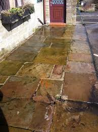 how to clean paving slabs with bleach