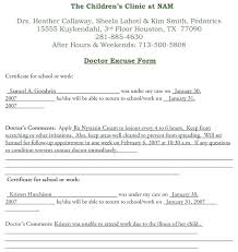 Free Doctors Note Template Excuse With Signature