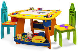 grow 'n up crayola wooden kids  piece table and chair set