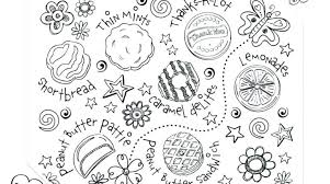 Cookie Coloring Pages Printable Cookies C Is For Page Monster To