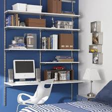 home office shelving systems. the container store white platinum elfa boyu0027s room shelvingshelving unitsshelving ideaswall unitsdesk home office shelving systems