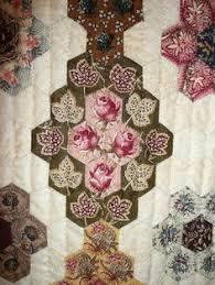 English+Paper+Pieced+Hexagon+Quilts   ... just type English paper ... & Sue Garman Great inspiration! Adamdwight.com