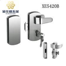 lever handle glass door lock with knob