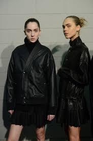 women models sel black gold backstage
