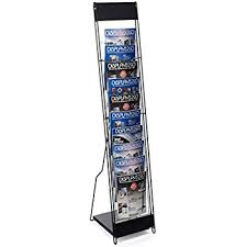 Free Standing Literature Display Beauteous Amazon Displays32go Portable Magazine Rack With 32 Pockets For