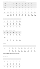 Ted Baker Swim Size Chart Ted Baker Size Chart Best Picture Of Chart Anyimage Org
