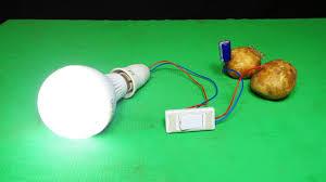 Potato Powered Light Bulb Project Burning Led Bulb Potato Experiment 2018 100 Free Energy Light Bulb 220v Using Potato