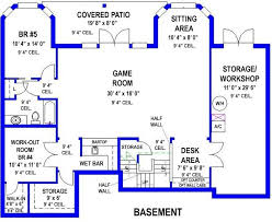 basement workshop plans. #alp-099h walkout basement with game room and workshop house plan plans b