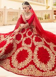 Latest Indian Wedding Lehenga Designs Red Embroidered A Line Lehenga Indian Bridal Outfits Red