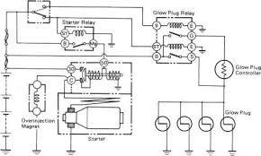 starting system circuit toyota land cruiser engine repair 2000 Toyota Land Cruiser Wiring Diagram 1357 glow plug circuit open shorted 2000 toyota land cruiser prado electrical wiring diagram